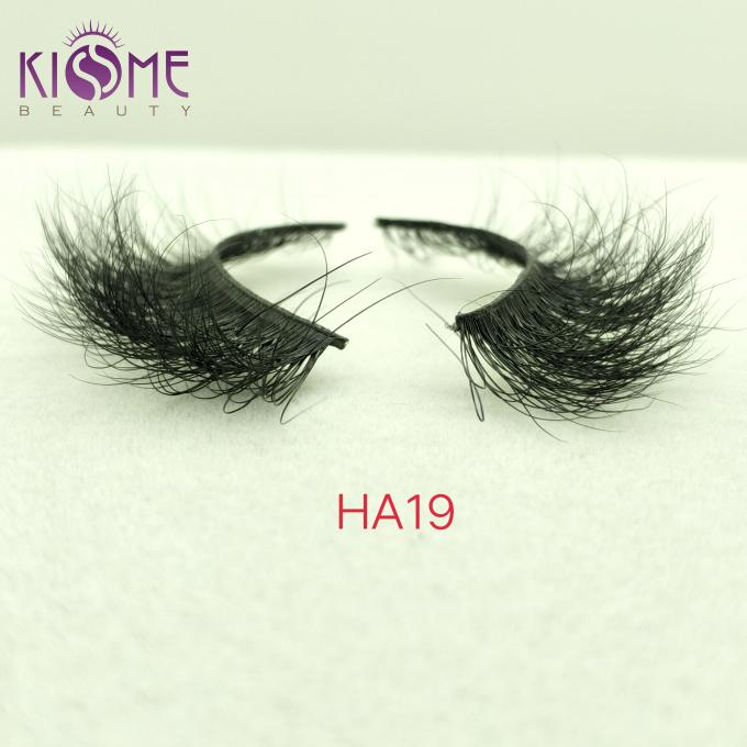 Thick Convenient Natural Mink Eyelashes Long Smooth Surface Lasting Time HA19