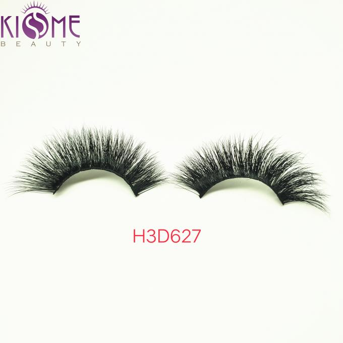 Daily Makeup Strip Real Mink Fur Eyelashes Natural Black  Multi Layers