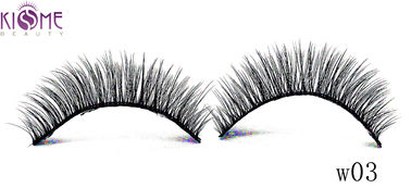 China Premium Synthetic Mink Lashes / Handmade Silk Volume Lashes 0.07mm Thickness factory
