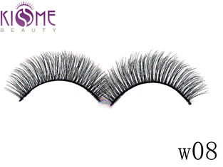 China Durable Shine Whispy Faux Mink Eyelashes Multi Layers Makeup Application factory