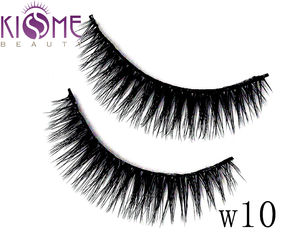 Handmade Faux Mink Eyelashes Durable 3D Silk Lashes  Custom Packaging