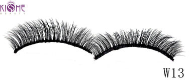 China Premium Shimmery Natural Silk Lashes Comfortable Handcrafted For Party Makeup factory