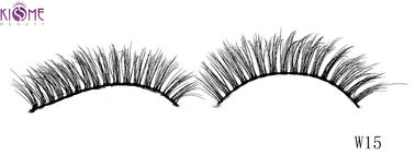 China Lightweight Beauty 3D Silk Lashes Reusable 3d Fake Eyelashes Natural Shining Black Shade factory