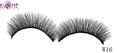 China Glitter Full Strip Mink And Silk Lashes Black Cotton Stalk Custom Length factory