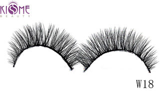 China Handmade 3D Silk Lashes Soft 3D Faux Mink Eyelashes No Harm Private Label factory
