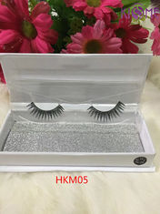 China Cruelty Free Soft Human Hair Lashes Reusable Up To 20 Times Custom Packaging factory