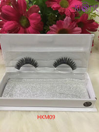China Handcraft Reusable Real Human Hair Lashes Soft Black Cotton Thread OEM Servie factory