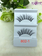 China Hand Made Durable Human Hair Lashes  Non - Irritating Private Label factory