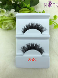 China Lightweight Wispy Human Hair Lashes Comfortable Luxury For Daily Makeup factory