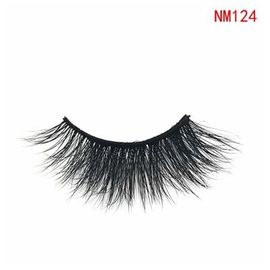 China 3D NM124 Makeup Long Eyelashes Real Siberian Mink Lashes For Party / Wedding factory