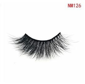 China NM126 Natural Soft 3D Mink Eyelashes Dramatic False Lashes Reusable Handmade factory