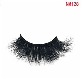 China 100% Real Siberian High Volume Mink Lashes 3D False Eyelashes NM128 Custom Packing factory