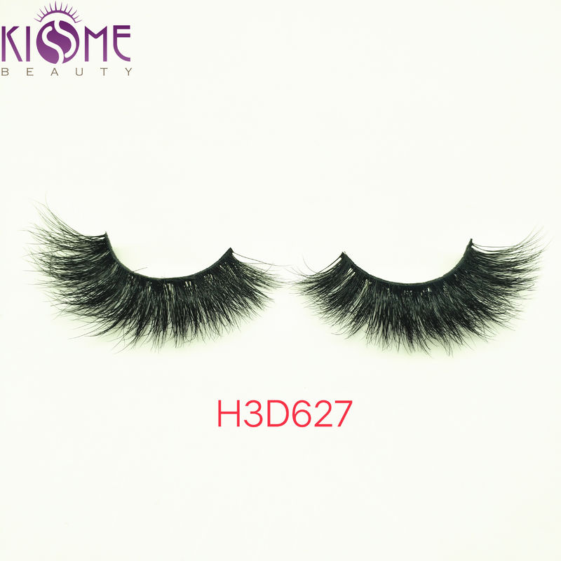 Daily Makeup Strip Real Mink Fur Eyelashes Natural Black  Multi Layers supplier