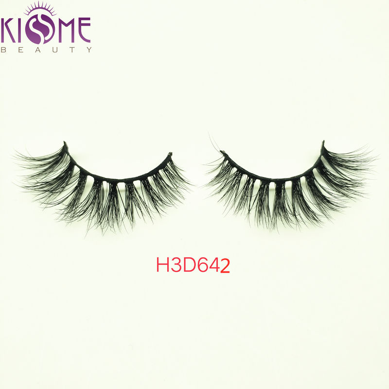 Custom Natural Mink Eyelashes / 100 Siberian Mink Lashes Private Label H3D642 supplier