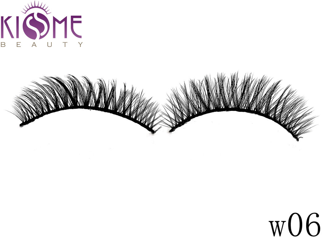 Strip 3D Faux Mink Eyelashes Feathery Looking 100 Siberian Mink Lashes supplier