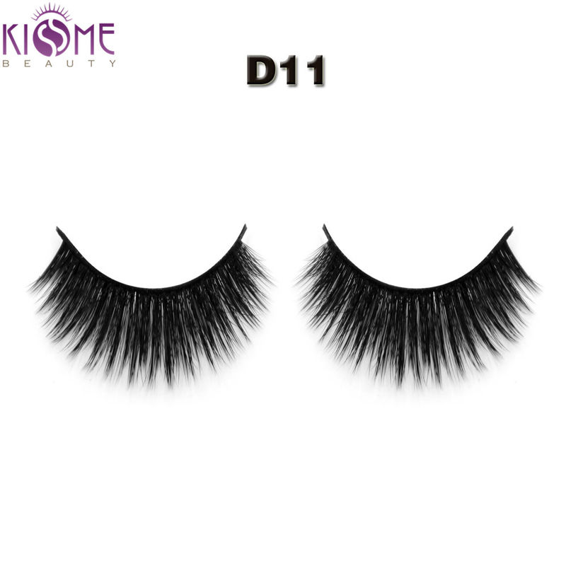 Handmade Wispy Silk Individual Lashes Multi - Layered Medium Long For Daily Makeup supplier