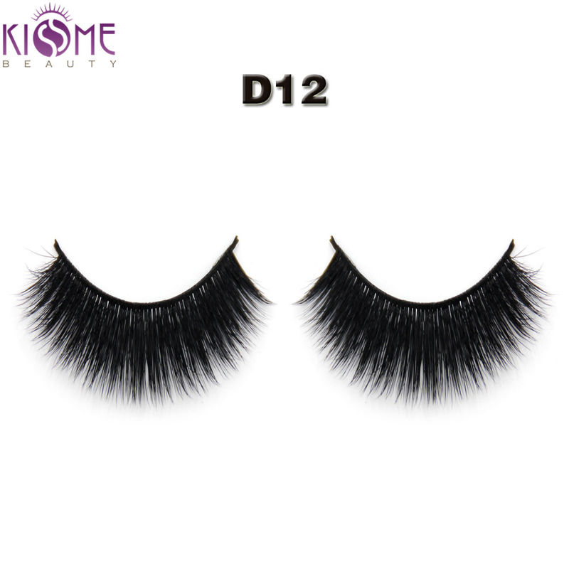 Long Thick Synthetic False Eyelashes Volume Dramatic 3d Silk Eyelashes supplier