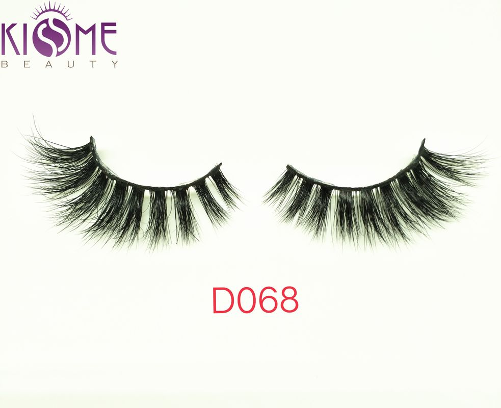 Real Siberian Curl Natural Mink Eyelashes Natural Shining Black Shade supplier
